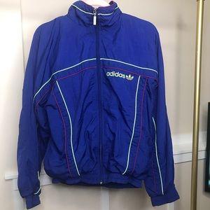 Adidas Blue Trefoil 80s Windbreaker Jacket